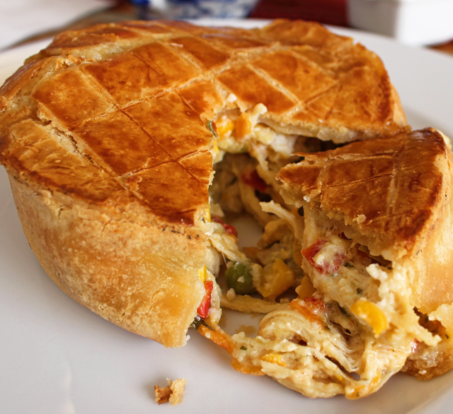 Torta rústica de frango do Damádalê: tremendamente gostosa