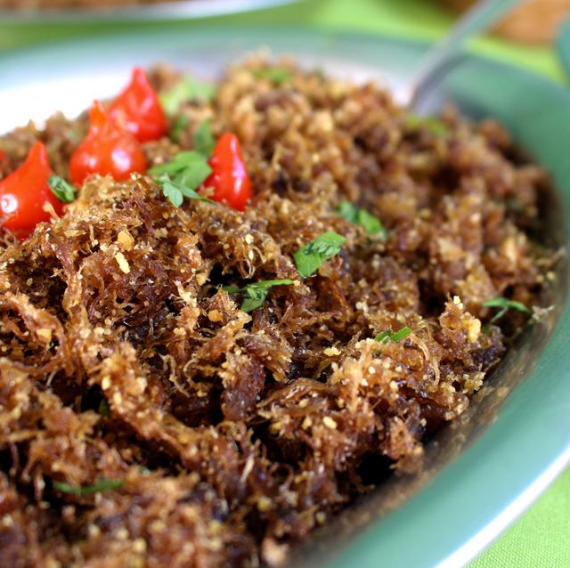 Deliciosa paçoca de carne seca socada no pilão: comum nas mesas da região pantaneira