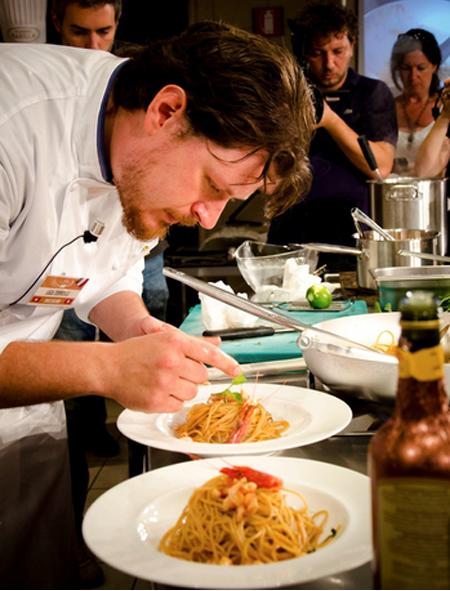 Lucca Torricelli, chef do restaurante L'Argentino (Lugano, Suíça), vencedor da terceira edição do Academia Barilla Pasta World Championship