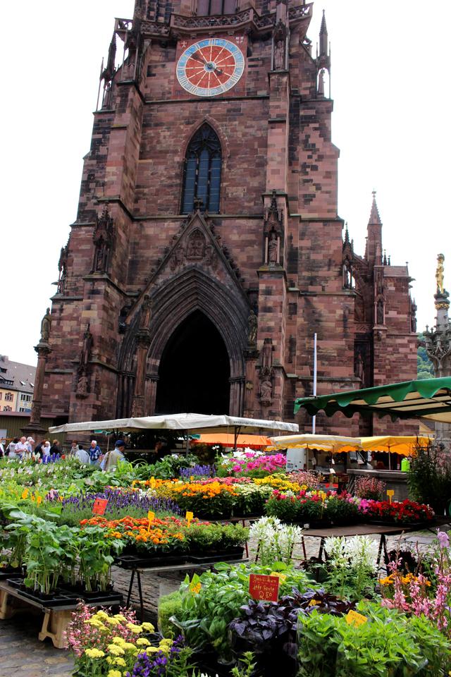O viciante Mercado de Friburgo, todos os dias pela manhã defronte a Catedral