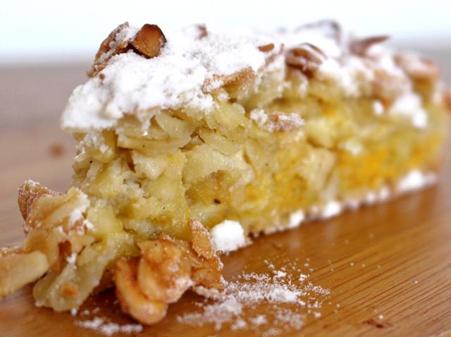 Torta de maçã da Bretanha: maçã, amêndoas e creme de baunilha