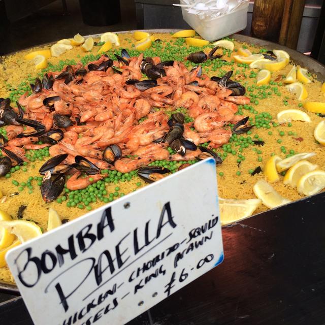 Paella em Borough Market: pra mim, o melhor mercado de comida de Londres