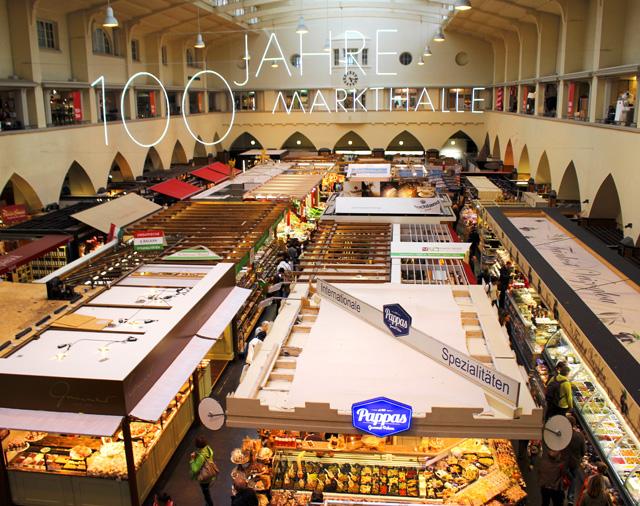 O lindo, organizado e ótimo Stuttgart Markthalle
