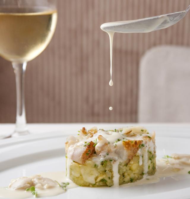 Baccalà con patata dolce al latte di mandorle_Loi Ristorantino_Lucas Terribili