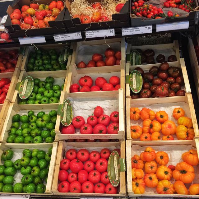 A variedade de tomates do Rob Gourmet's Market