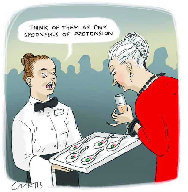 Cartoon do site https://cluestolife.wordpress.com/tag/i-hate-food-snobs/
