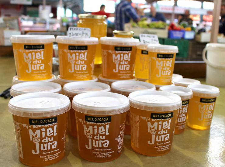 Mel de Jura (região francesa) no mercado de Dijon
