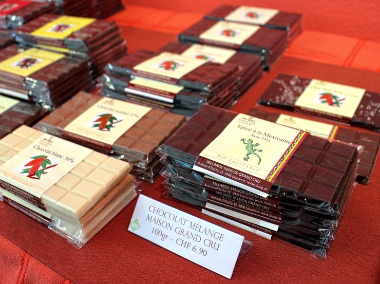Barras de chocolate de diferentes partes do mundo e, minha preferida, com temperos mexicanos na ótima Durig, em Lausanne