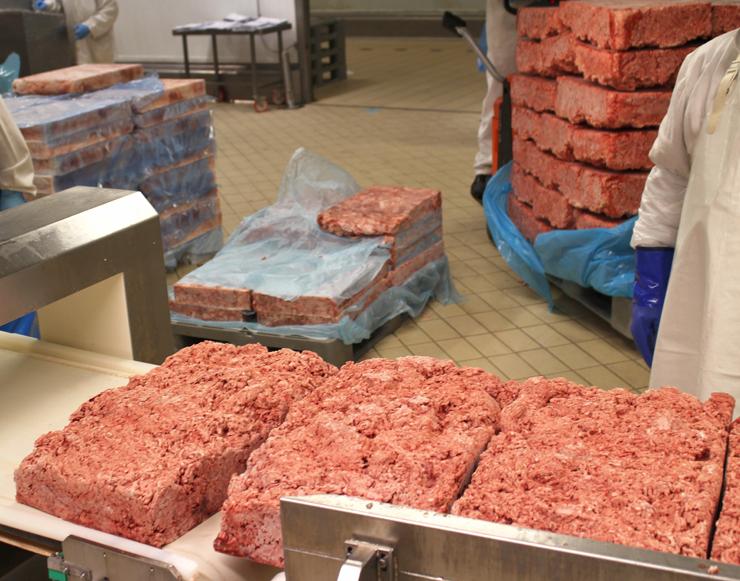 Paleta de porco e bucho de porco congelados: o início do processo de fabricação da Mortadella I.G.P.