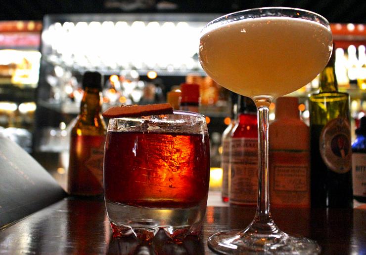 Simple Man (primo do drink mais foodie da humanidade, o negroni) e White Lady (Gin siderit, grand marnier e limão siciliano)