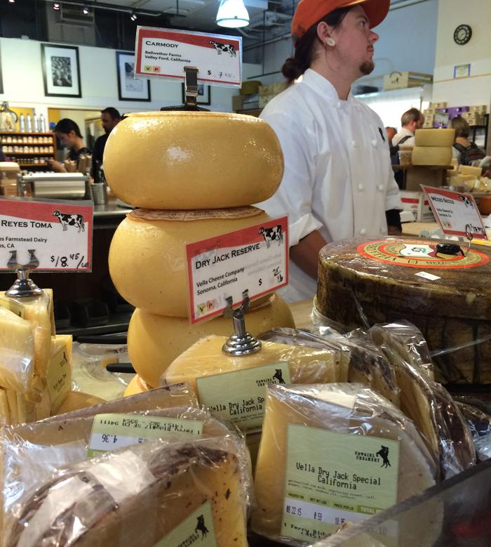 Vitrine da sensacional Cowgirl Creamery's Artisan Cheese
