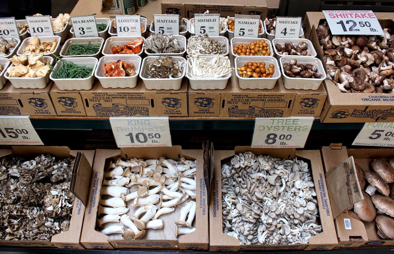Uma das lojas mais sensacionais do Ferry Builing Marketplace: Far West Fungi