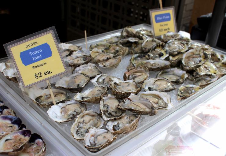 Hog Island Oyster Company: diversos tipos de ostras para comer ali ou levar pra casa
