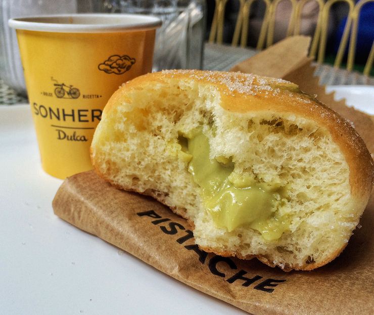 Sonho de pistache e café na nova Sonheria Dulca, nos Jardins, em São Paulo