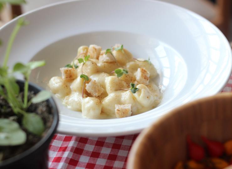 Prato do Festival Arca do Gosto: Gnocchi de batata com queijo parmesão da Mantiqueira (R$ 58) do Brace Bar & Griglia