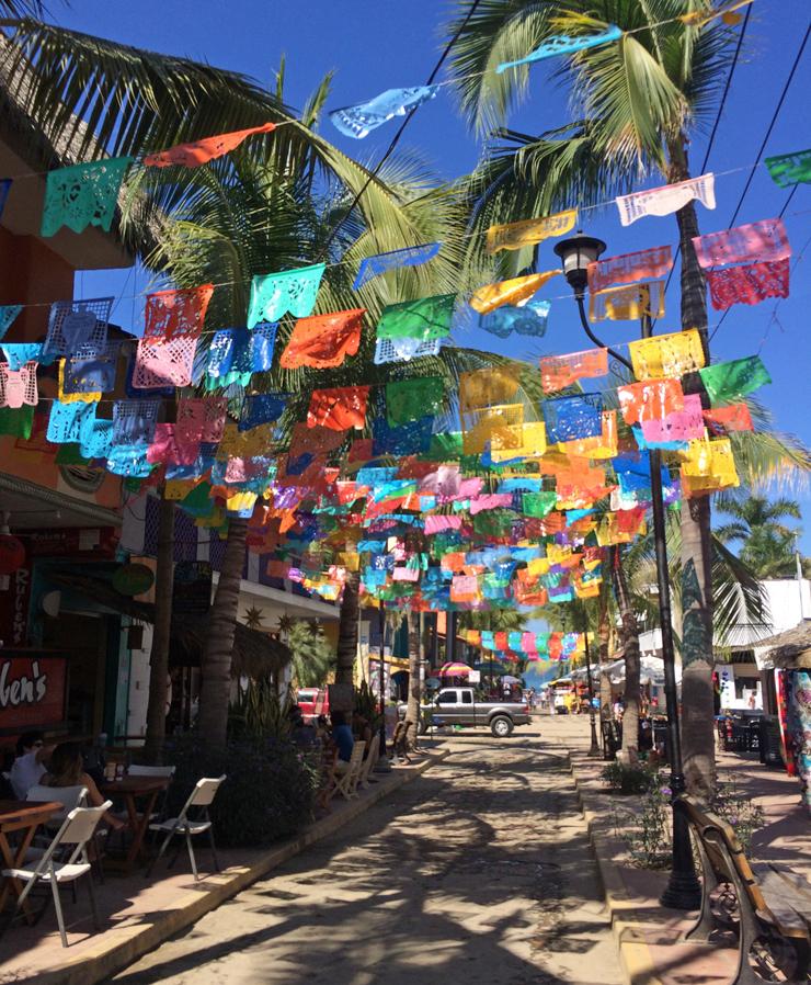 Ruas do povoado de Sayulita
