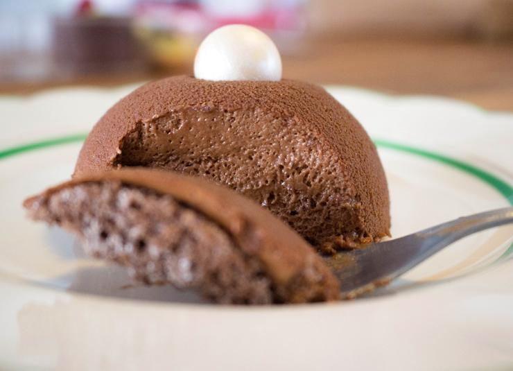 Zuccotto do Sweet Café: mais parecido com uma mousse de chocolate