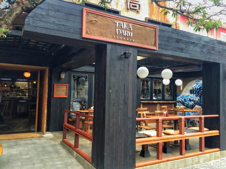 Detalhe do salão externo do Taka Daru