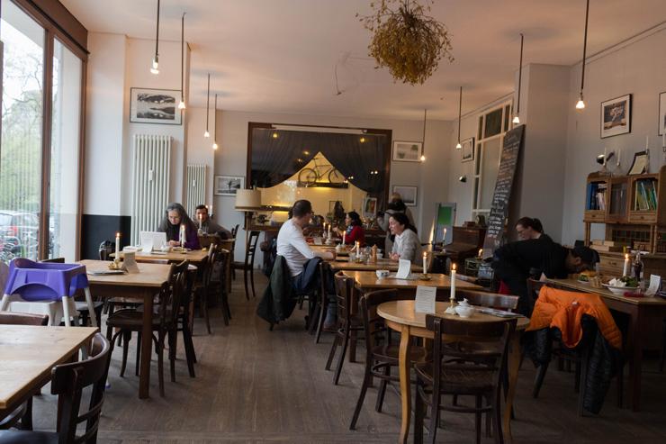Salão do café A.Horn, em Berlim