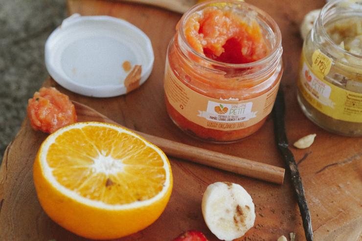 Papinhas com ingredientes 100% orgânicos da Tangerine Petit