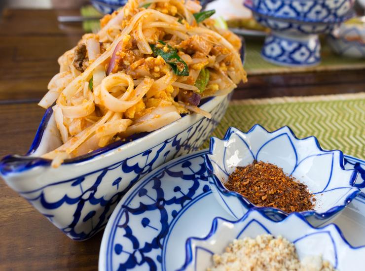 Pad Thai: clássicos dos clássicos tailandês na versão do Thai chef, com tofu