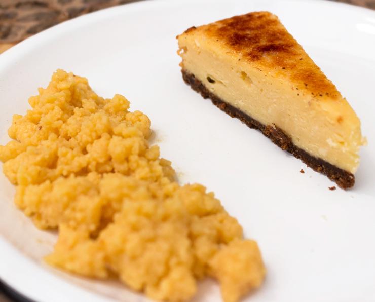 Ótimo Cheesecake brulê de queijo canastra com dispensável ambrosia do novo Kod