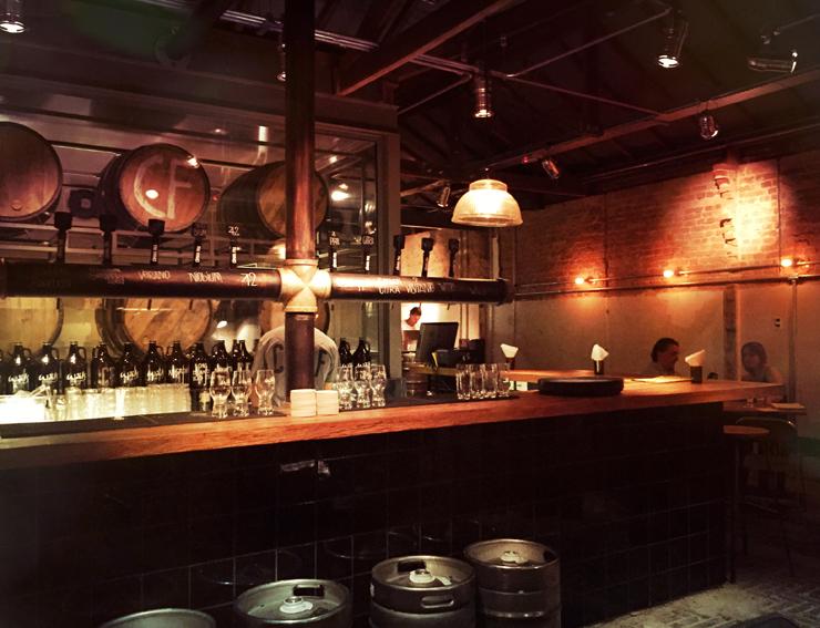 Ambiente do novo bar de cervejas Câmara Fria