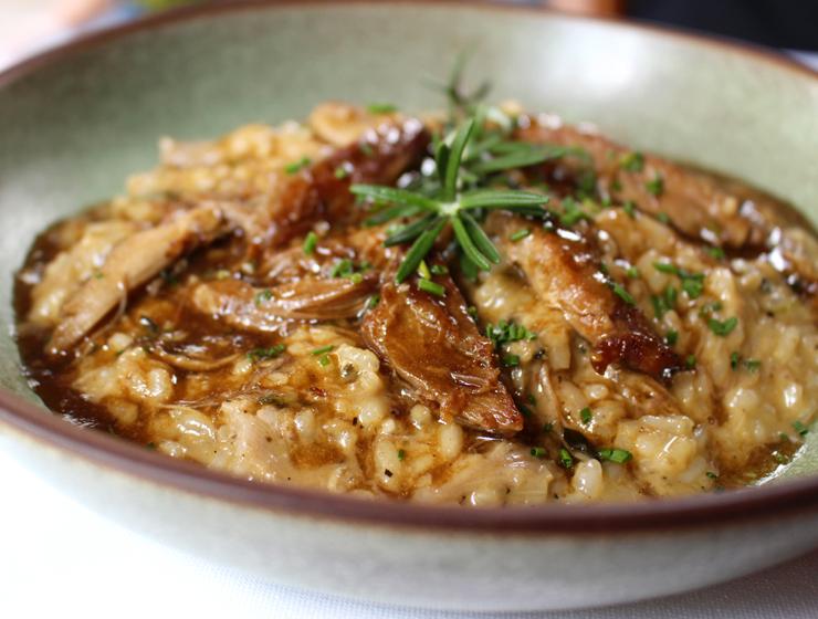 O ótimo risoto de pato selgavem e laranja do Des Cucina