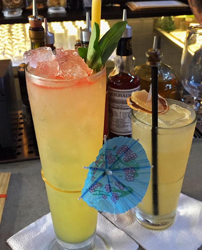 Ponto G e Classy as F**k: exemplo de drinques frescos, tropicais, criativos e bem executados no Guilhotina