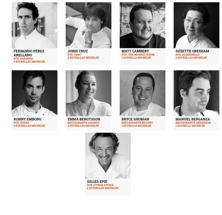O timaço de chefs confirmados para a segunda edição do Iberostarchef On Tour