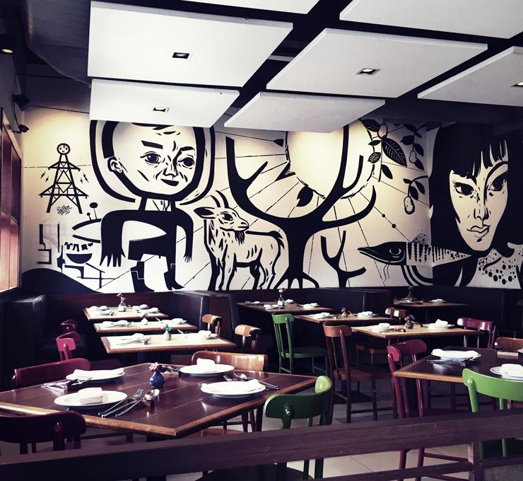 Ambiente do Esquina MOcotó: aqui o chef Rodrigo Oliveira brilha